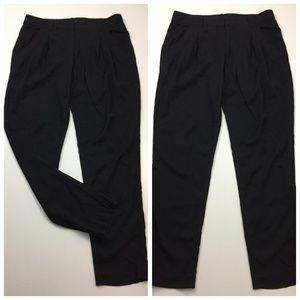THEORY Pleats Front Tapered Leg Dress Pants